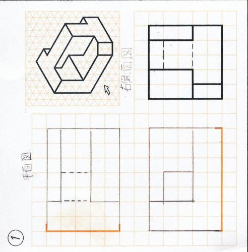 機械製図の基本 かくれ線について